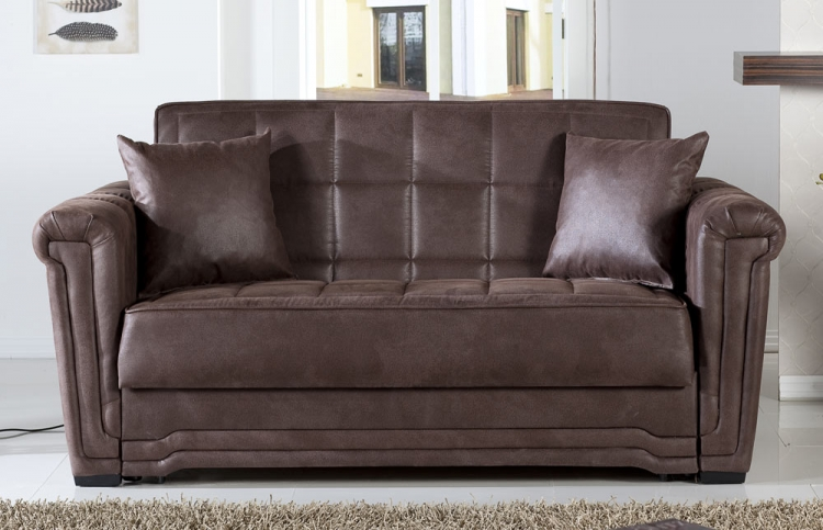 Victoria Sleeper Love Seat - Chocolate - Istikbal - Sunset