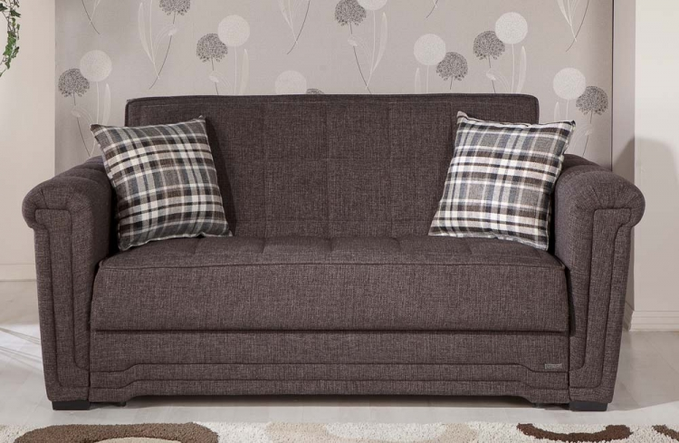 Victoria Sleeper Love Seat - Andre Dark Brown