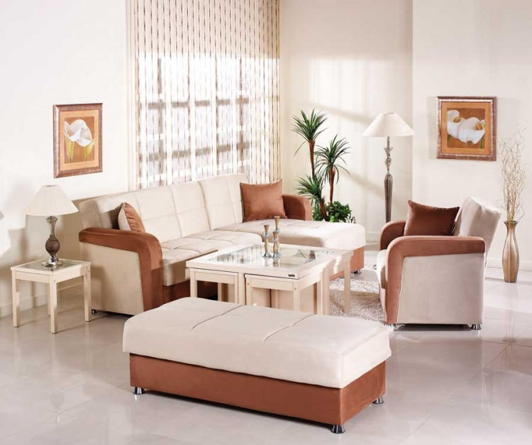 Vision Sectional Collection - Rainbow Beige