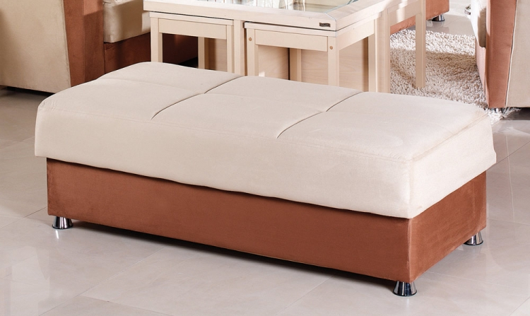 Vision Ottoman - Rainbow Beige/Brown - Istikbal - Sunset