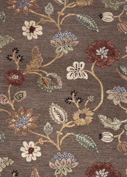 Blue Garden Party BL45 Cocoa Brown Area Rug