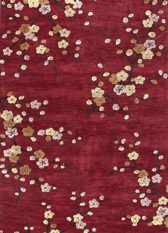 Brio Cherry Blossom BR17 Red Area Rug