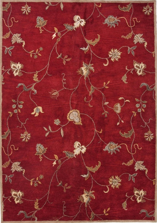 Poeme Alsace PM41 Red Area Rug
