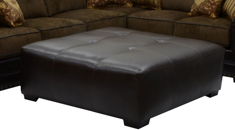 Austin Cocktail Ottoman - Walnut