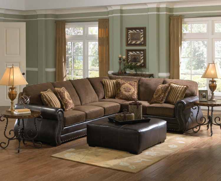 Austin Sectional Sofa Set - Walnut