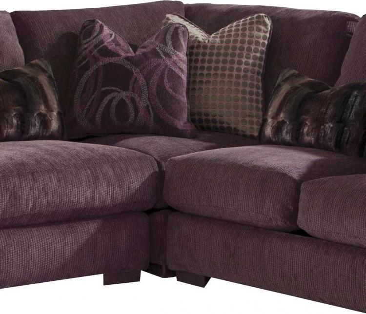 Jackson Serena Sectional Sofa Set Plum JF 3276 Sect Set