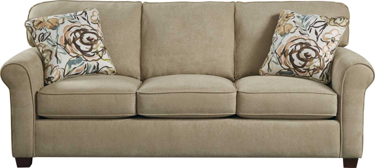 Zachary Queen Sleeper Sofa - Wheat
