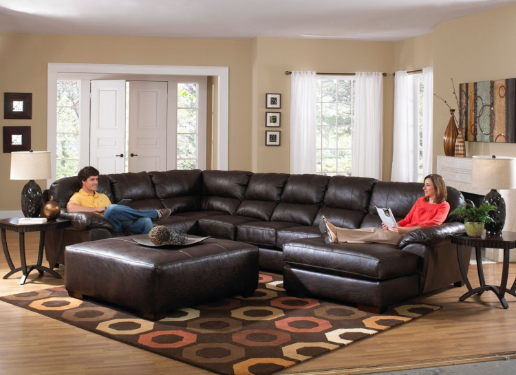 Lawson Sectional Sofa Set B - Godiva - Jackson