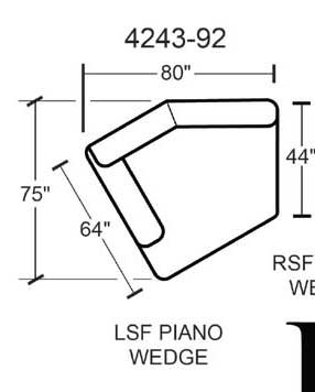 Jackson Lawson Left Side Facing Piano Wedge - Putty