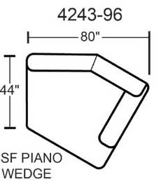 Jackson Lawson Right Side Facing Piano Wedge - Putty