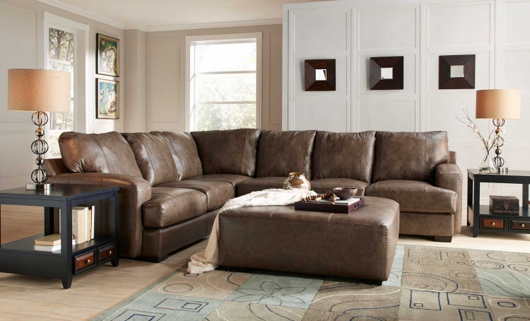 Barrington Leather Match Sectional Sofa Set B - Smoke
