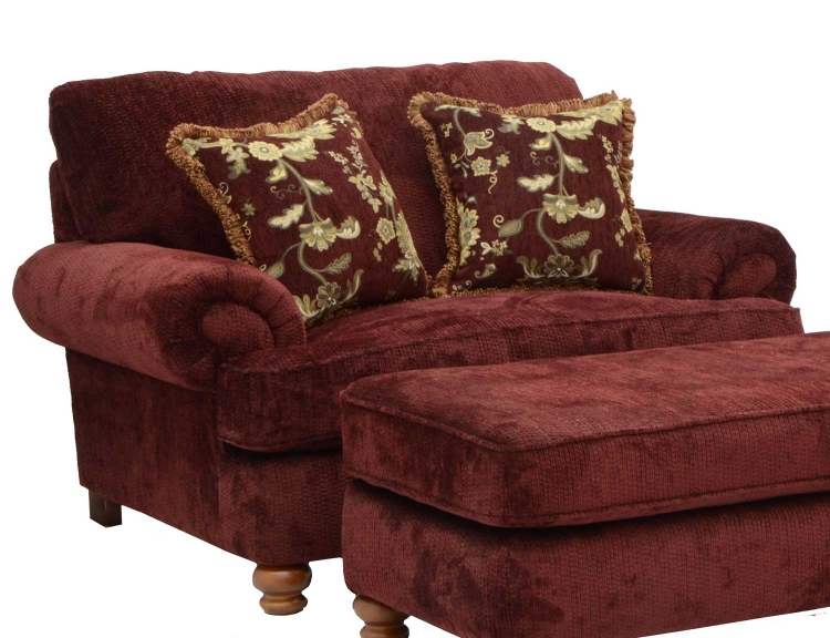 Belmont Chair and Half - Claret