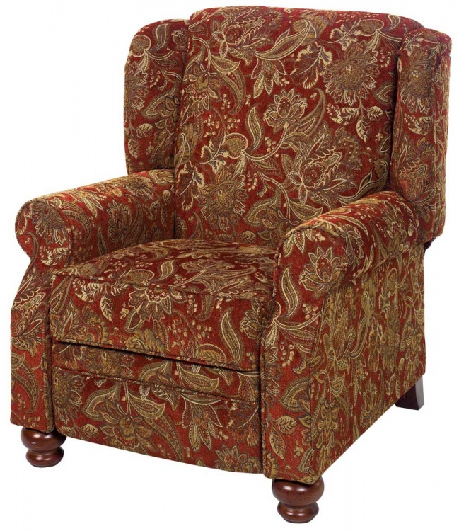 Belmont Reclining Chair - Red