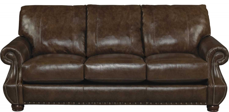 Dawson Top Grain Leather Match Sofa - Timber