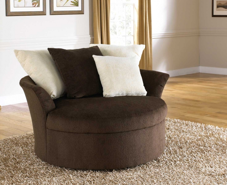 Axis Swivel Chair - Chocolate