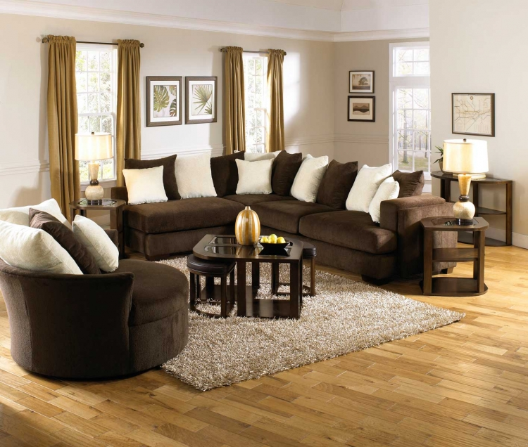 Axis Small Sectional Sofa Set - Chocolate - Jackson Furniture