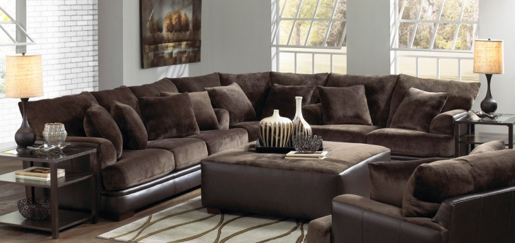 Barkley Sectional Sofa - Chocolate - Jackson