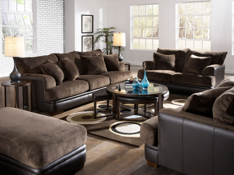 Barkley Sofa Set - Chocolate
