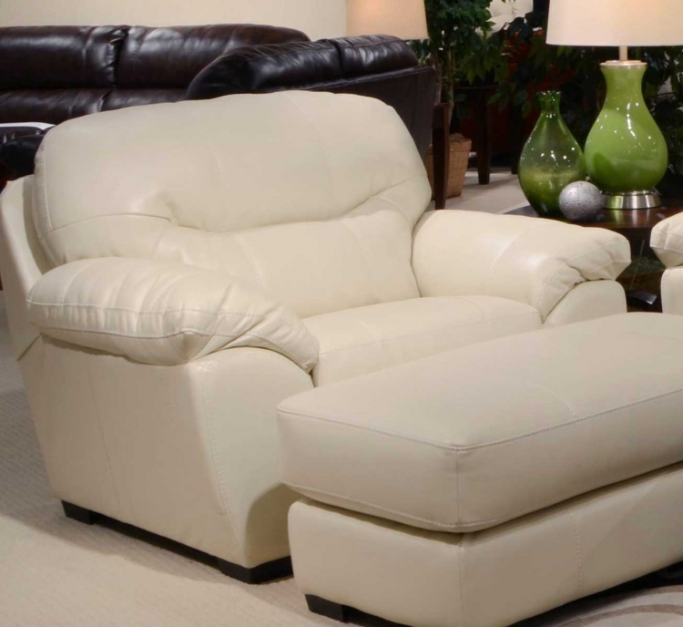 Grant Bonded Leather Chair - Ice