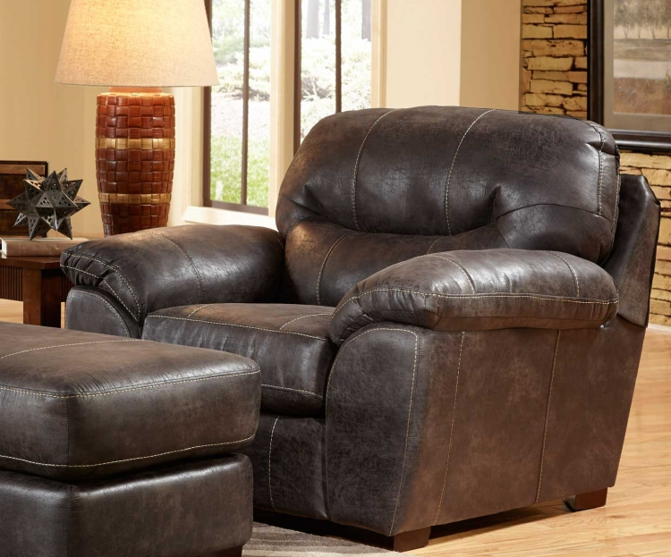 Grant Bonded Leather Chair - Steel