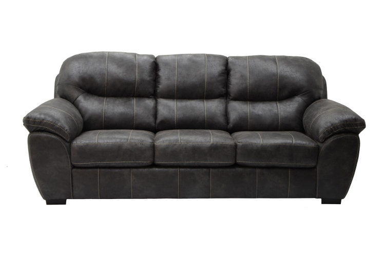 Grant Bonded Leather Sofa - Steel