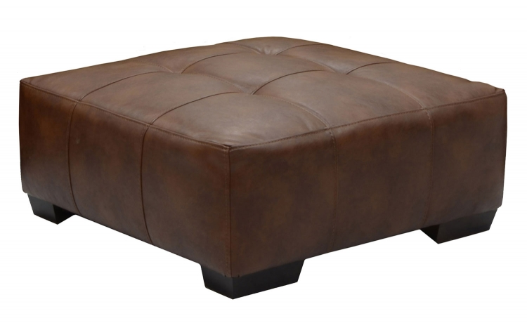 Strickland Cocktail Ottoman - Chestnut