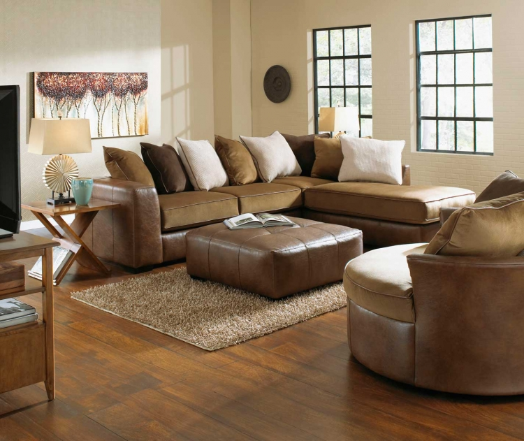 Strickland Sectional Sofa Set - Chestnut