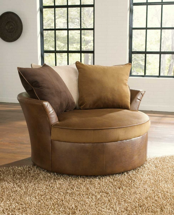 Strickland Swivel Chair - Chestnut