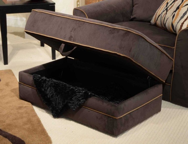 Coronado Storage Ottoman - Chocolate