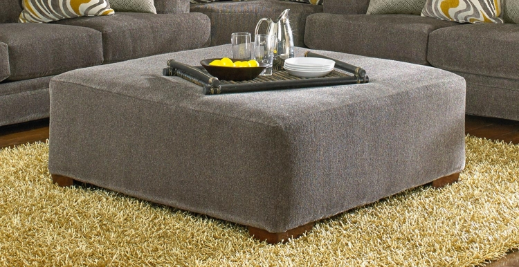 Crompton Cocktail Ottoman - Pewter