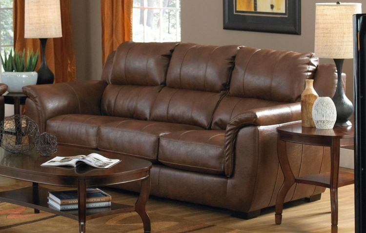 Verona Leather Sofa - Chestnut - Jackson Furniture