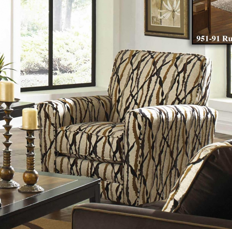 Coronado Accent Chair - Correlating Espresso Fabric