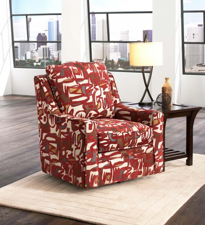 Sutton Swivel Chair - Scarlet