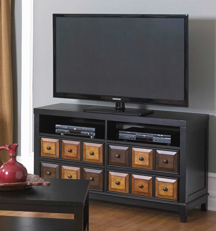 857 Series TV Console with Wine Shelf