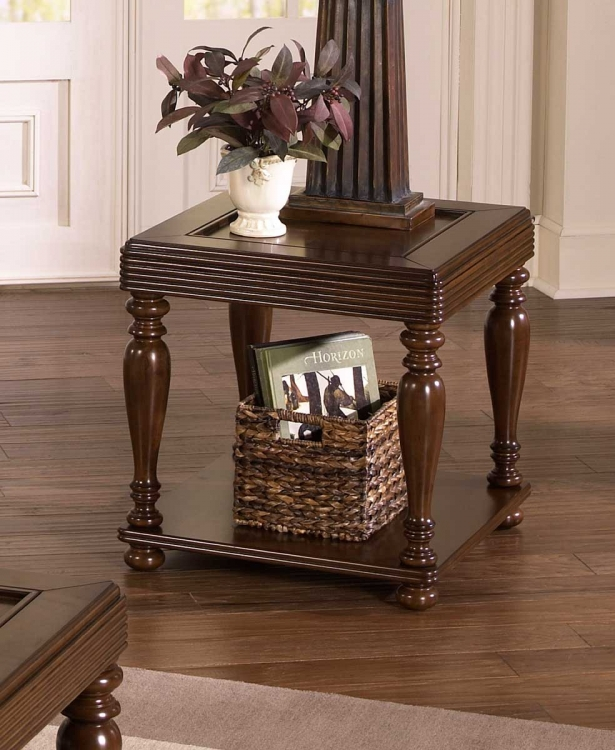 859 Series Tray Top Traditional End Table