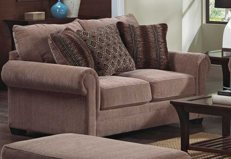 Anniston Loveseat - Saddle/Fireside