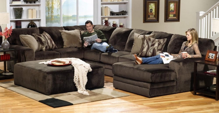 Everest Customizable Sectional Sofa Set B - Chocolate