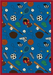 Multi-Sport Rug - Blue - Joy Carpet