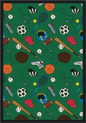 Multi-Sport Rug - Green - Joy Carpet