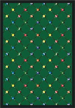 Billiards Rug - Green