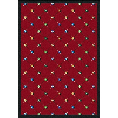 Billiards Rug - Red