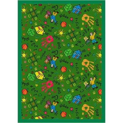 Scribbles Rug - Green - Joy Carpet