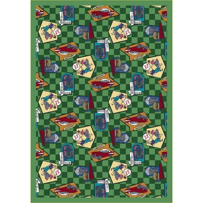 Fabulous Fifties Rug - Green - Joy Carpet