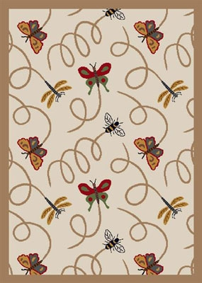 Wing Dings Rug - Beige - Joy Carpet