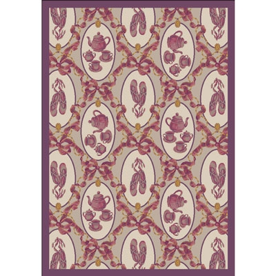 Ribbons and Bows Rug - Taupe