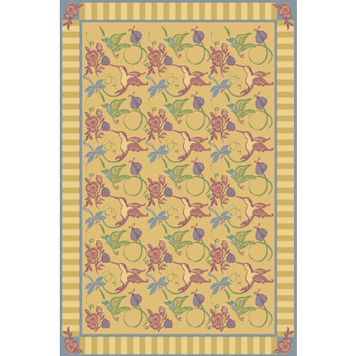 Flights of Fantasy Rug - Gold