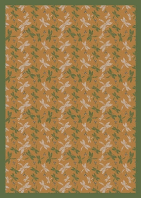 Dragonflies Rug - Gold - Joy Carpet
