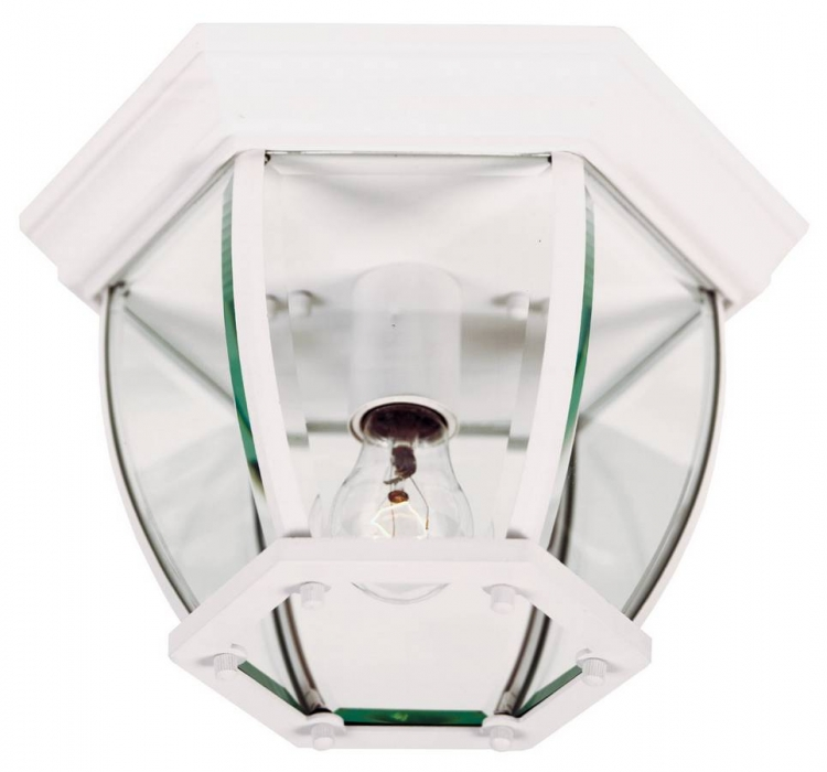 Dural 1 Lt Flush Mount - White