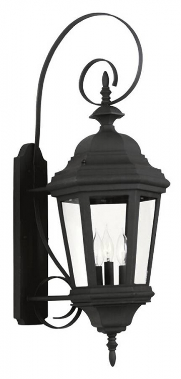 Estate Large Wall Lantern - Black - Kenroy Home