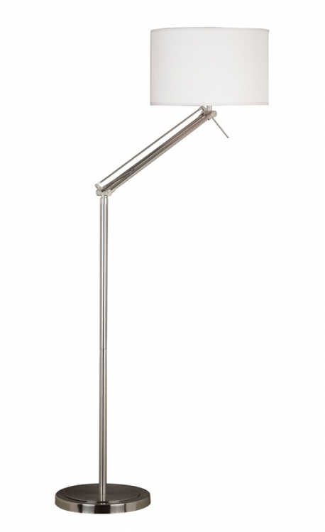 Hydra 1 Light Adjustable Floor Lamp - Brushed Steel